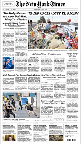 New York Times caves to political pressure from Democrats, changes headline on top front page story
